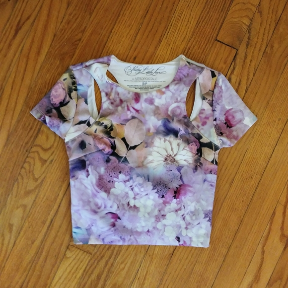 NEW Mauve Floral Crop Top Only  Baby and Toddler